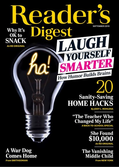 Reader's Digest Cover - 9/1/2019