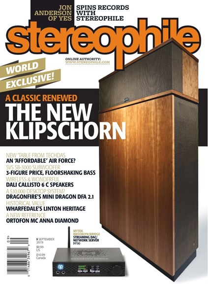 Stereophile Cover - 9/1/2019