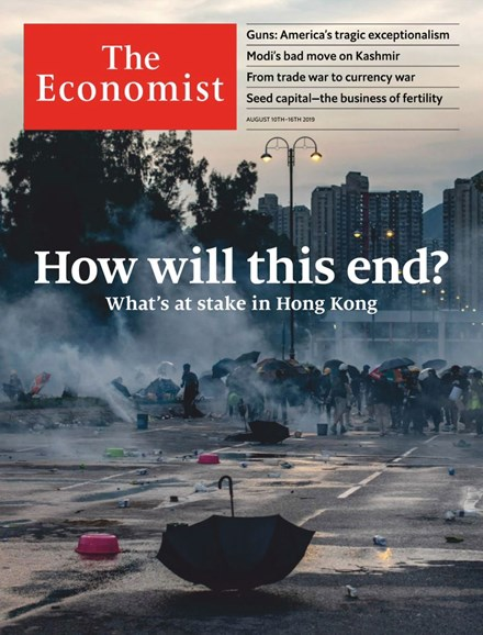 The Economist Cover - 8/10/2019