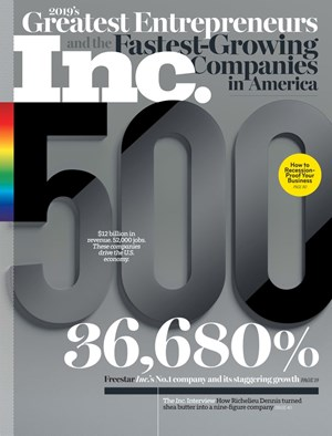 Inc. Magazine | 9/2019 Cover