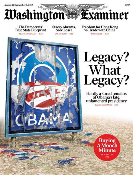 Washington Examiner Cover - 8/27/2019