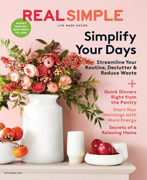 Real Simple Cover - 9/1/2019