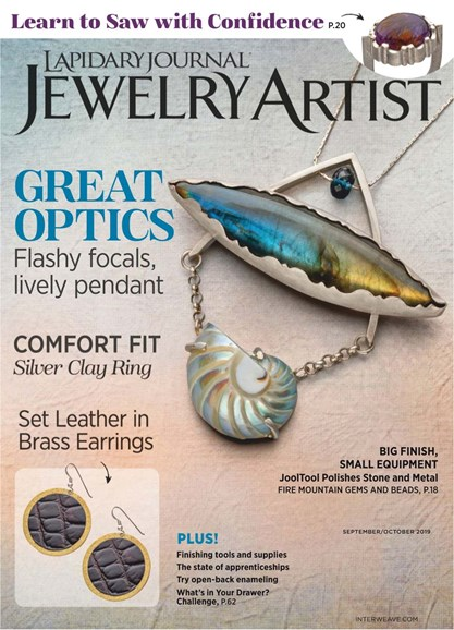 Lapidary Journal Jewelry Artist Cover - 9/1/2019
