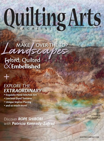 Quilting Arts Cover - 10/1/2019
