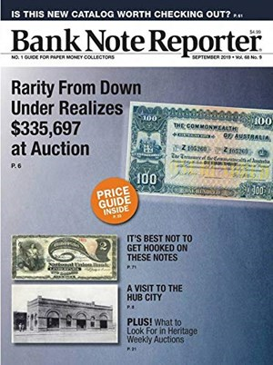 Bank Note Reporter Magazine | 9/2019 Cover