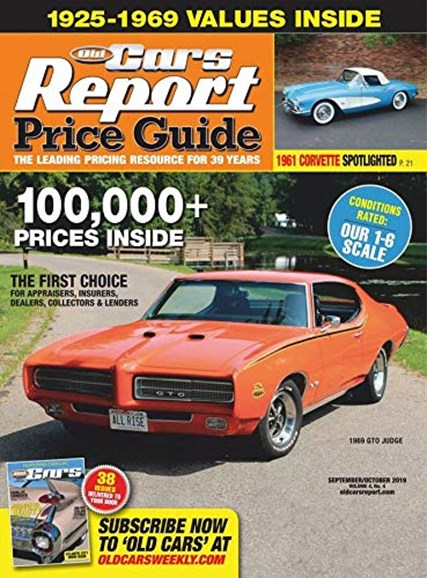 Old Cars Report Price Guide Cover - 9/1/2019