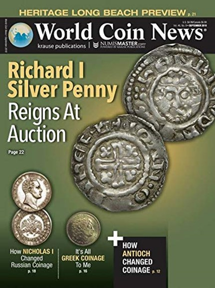 World Coin News Cover - 9/1/2019