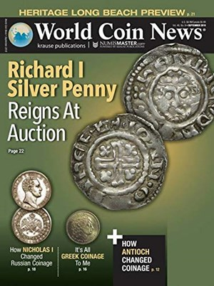 World Coin News Magazine | 9/2019 Cover