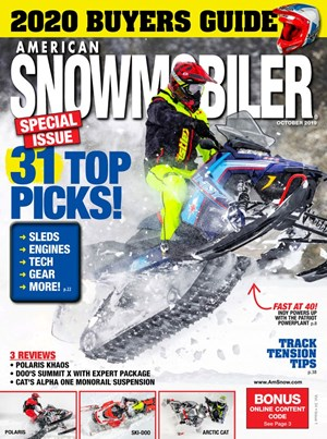 American Snowmobiler Magazine | 10/2019 Cover