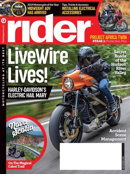 Rider Cover - 9/1/2019