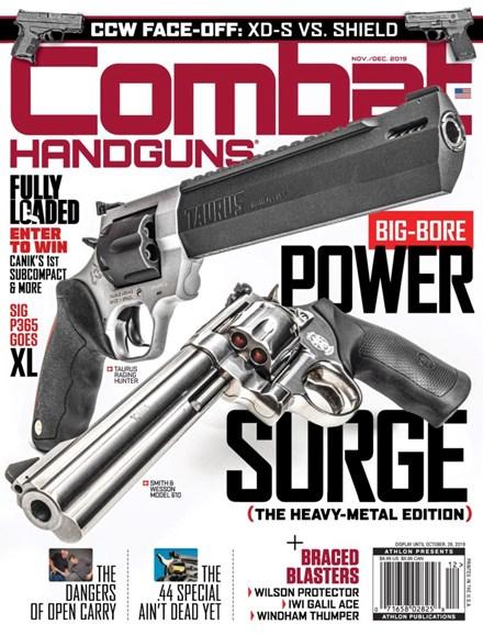 Combat Handguns Cover - 11/1/2019