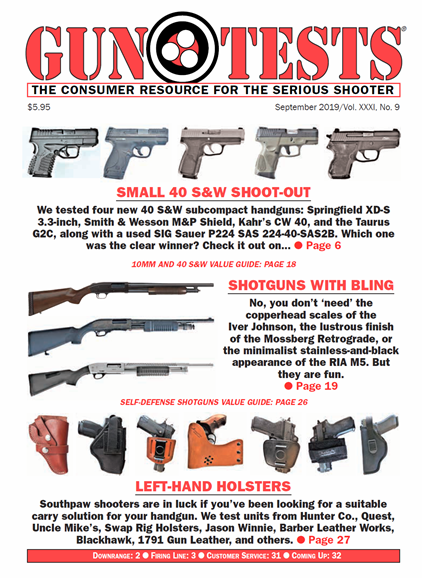 Gun Tests Cover - 9/1/2019