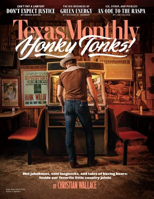 Texas Monthly Magazine | 9/2019 Cover