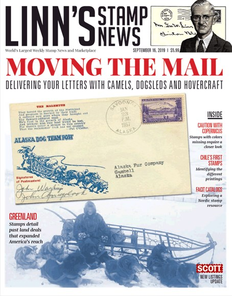 Linn's Stamp News Monthly Cover - 9/16/2019