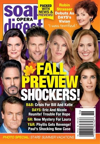 Soap Opera Digest Magazine   9/9/2019 Cover