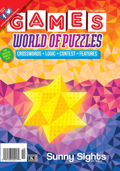 Games World of Puzzles Cover - 10/1/2019