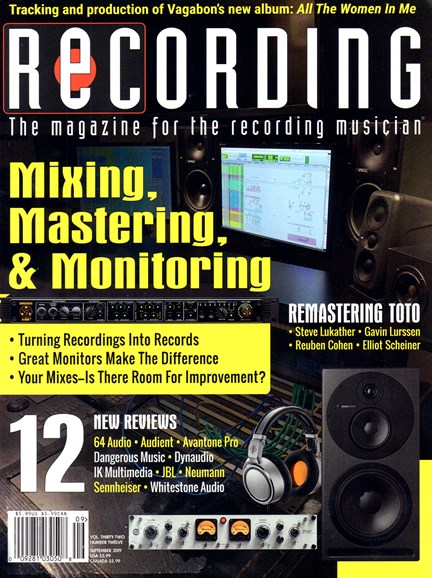 Recording Magazine Cover - 9/1/2019