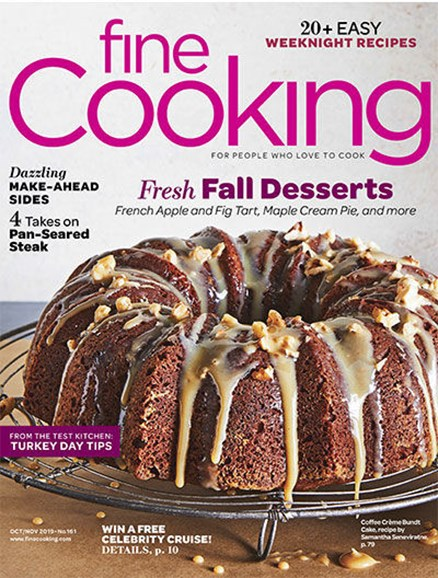 Fine Cooking Cover - 10/1/2019
