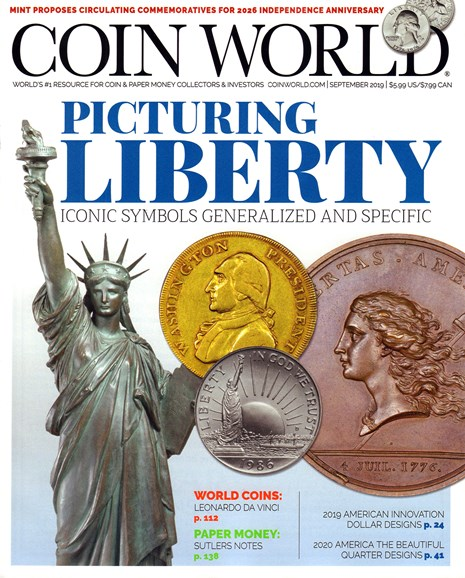 Coin World Monthly Cover - 9/1/2019