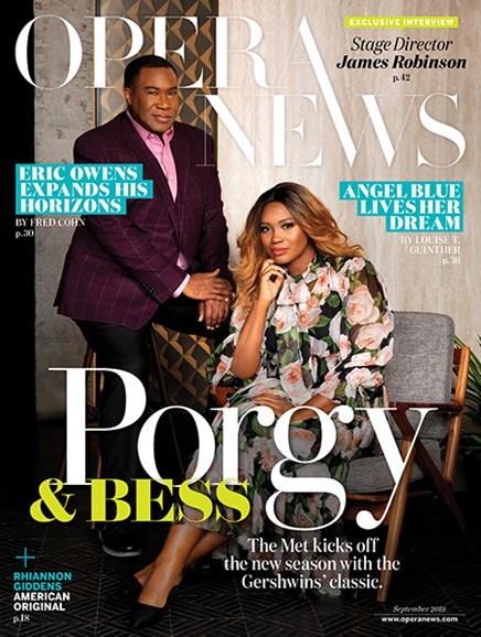 Opera News Cover - 9/1/2019