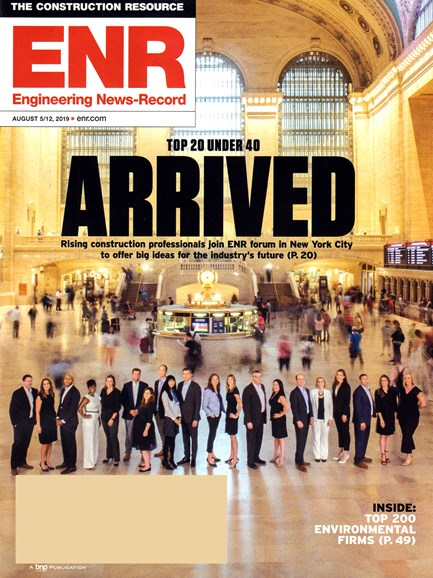 Engineering News Record Cover - 8/5/2019