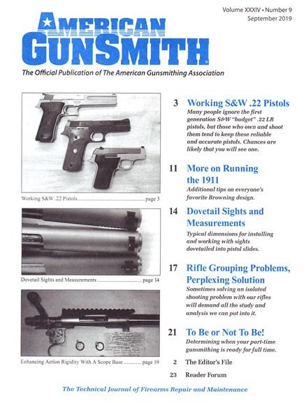 American Gunsmith Cover - 9/1/2019