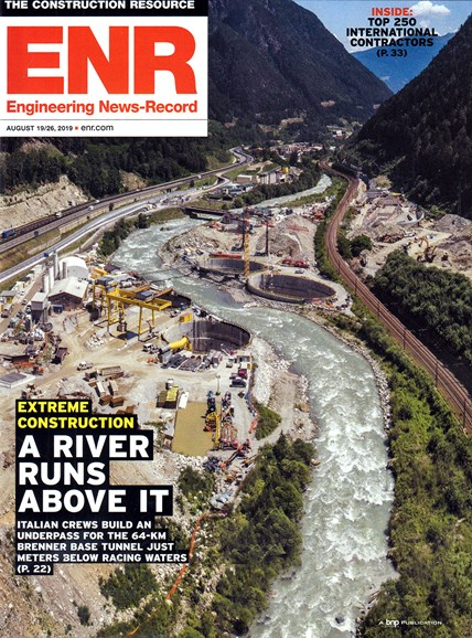 Engineering News Record Cover - 8/19/2019