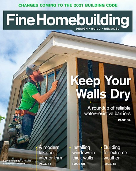 Fine Homebuilding Cover - 9/1/2019