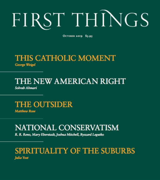 First Things Cover - 10/1/2019