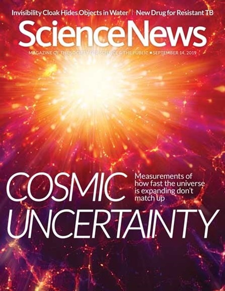 Science News Cover - 9/14/2019