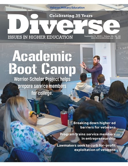 Diverse: Issues In Higher Education Cover - 9/5/2019
