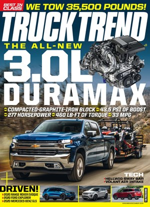 Truck Trend Magazine | 11/1/2019 Cover