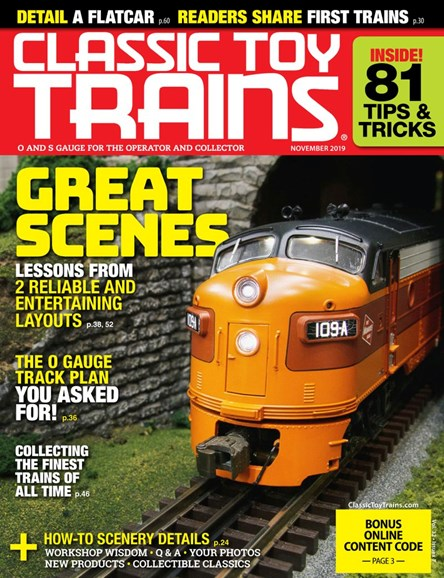 Classic Toy Trains Cover - 11/1/2019