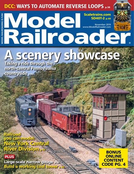 Model Railroader Cover - 11/1/2019