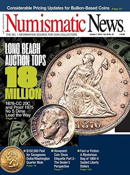 Numismatic News Cover - 10/1/2019