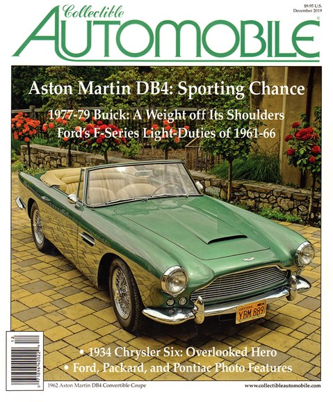 Collectible Automobile Cover - 12/1/2019