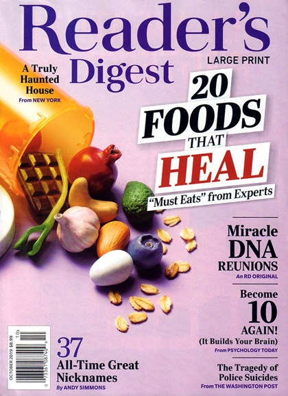 Reader's Digest - Large Print Edition Cover - 10/1/2019