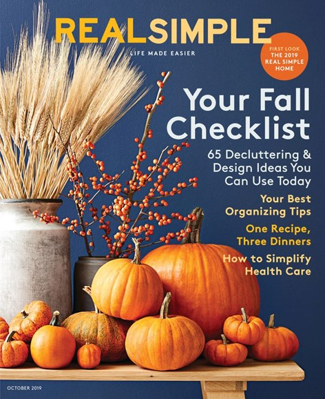 Real Simple Cover - 10/1/2019