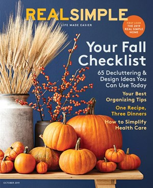 Real Simple Magazine | 10/1/2019 Cover
