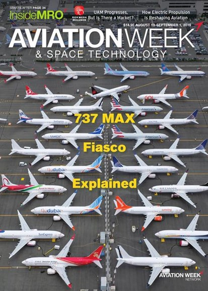 Aviation Week & Space Technology Cover - 8/19/2019