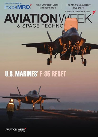 Aviation Week & Space Technology Cover - 9/16/2019