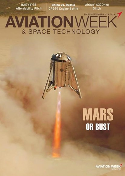Aviation Week & Space Technology Cover - 9/2/2019