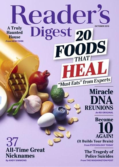 Reader's Digest Cover - 10/1/2019