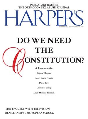 Harper's Magazine | 10/2019 Cover