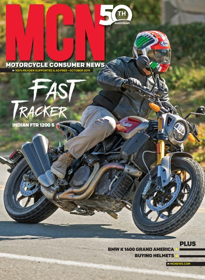 Motorcycle Consumer News Cover - 10/1/2019