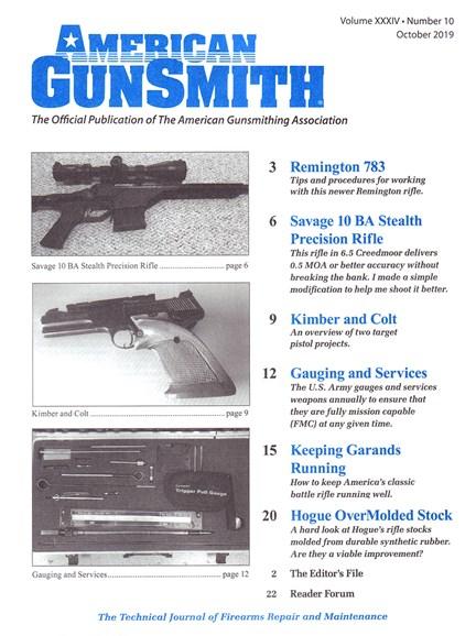 American Gunsmith Cover - 10/1/2019