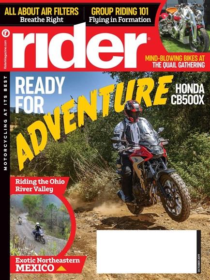 Rider Cover - 10/1/2019
