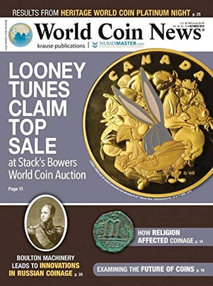 World Coin News Cover - 10/1/2019