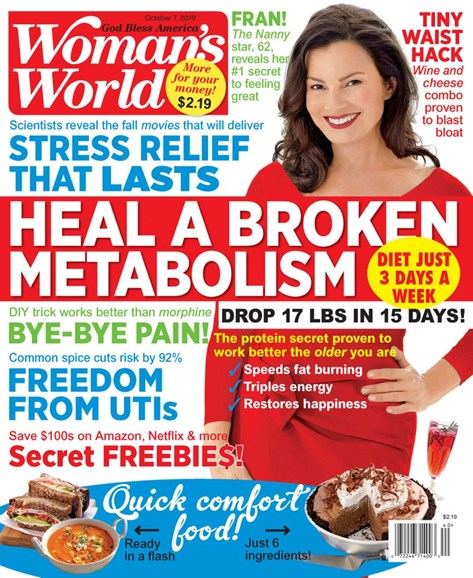 Woman's World Cover - 10/7/2019