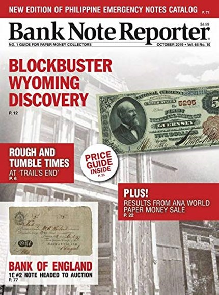 Bank Note Reporter Cover - 10/1/2019